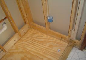 Framing a Shower Stall