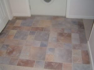 How to take dirt of ceramic tile entrance-way.