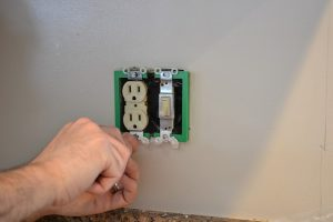 Install electrical box extenders when tiling kitchen backsplash