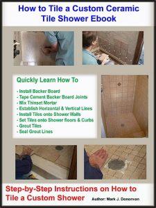 How to tile a custom ceramic tile shower