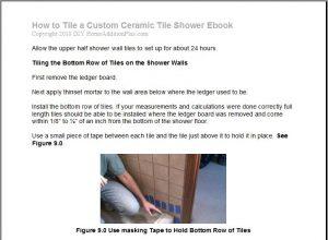 How to tile a custom ceramic tile shower.