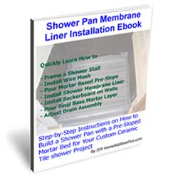Shower Membrane Liner installation Ebook