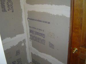Taped cement backer board