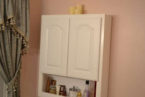 Install a bathroom wall cabinet to gain more storage space in your bathroom.