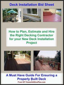 Deck Installation Bid Sheet