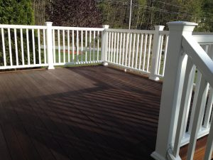 How to install a composite deck railing system.