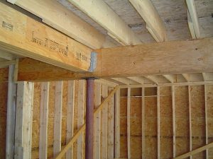 Here are joist hangers in use.