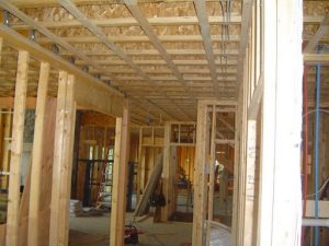 Metal studs versus wood studs for framing.