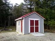 Here is a garden shed my father built.