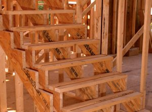 Stair tread and riser framing