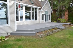Finished Deck with newly installed Trex Composite Decking