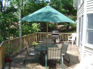 Lake Winnipesaukee vacation home deck