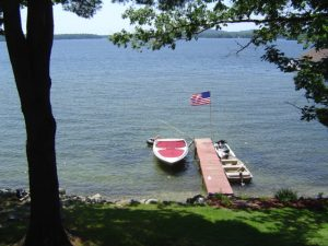 Here is a pipe dock I built on the shores of Lake Winnipesaukee.