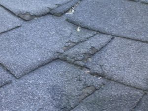 Cupping and fish-mouthing is a sure sign the roof shingles are in need of replacement.