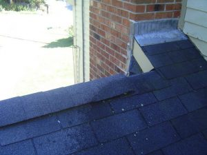 Installed ridge vent.
