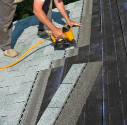 A roofing nail guns dramatically speeds up a roofing job.