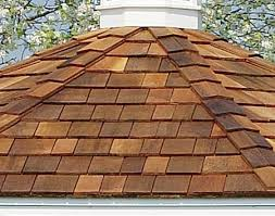 Installing wood roof shingles, and in this case cedar wood shingles.