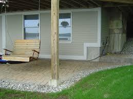 Use of pre-cast concrete piers in deck construction.