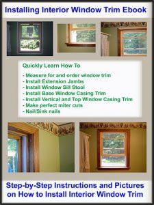 Installing Window Trim eBook