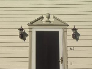 Replacing exterior door molding.