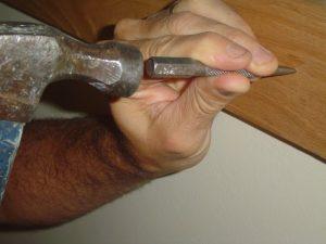 Using a nail set