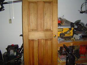 Stained wood Door