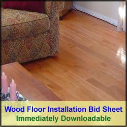 Wood Flooring Installation Bid Sheet