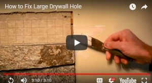 How to Fix a Large Drywall Hole