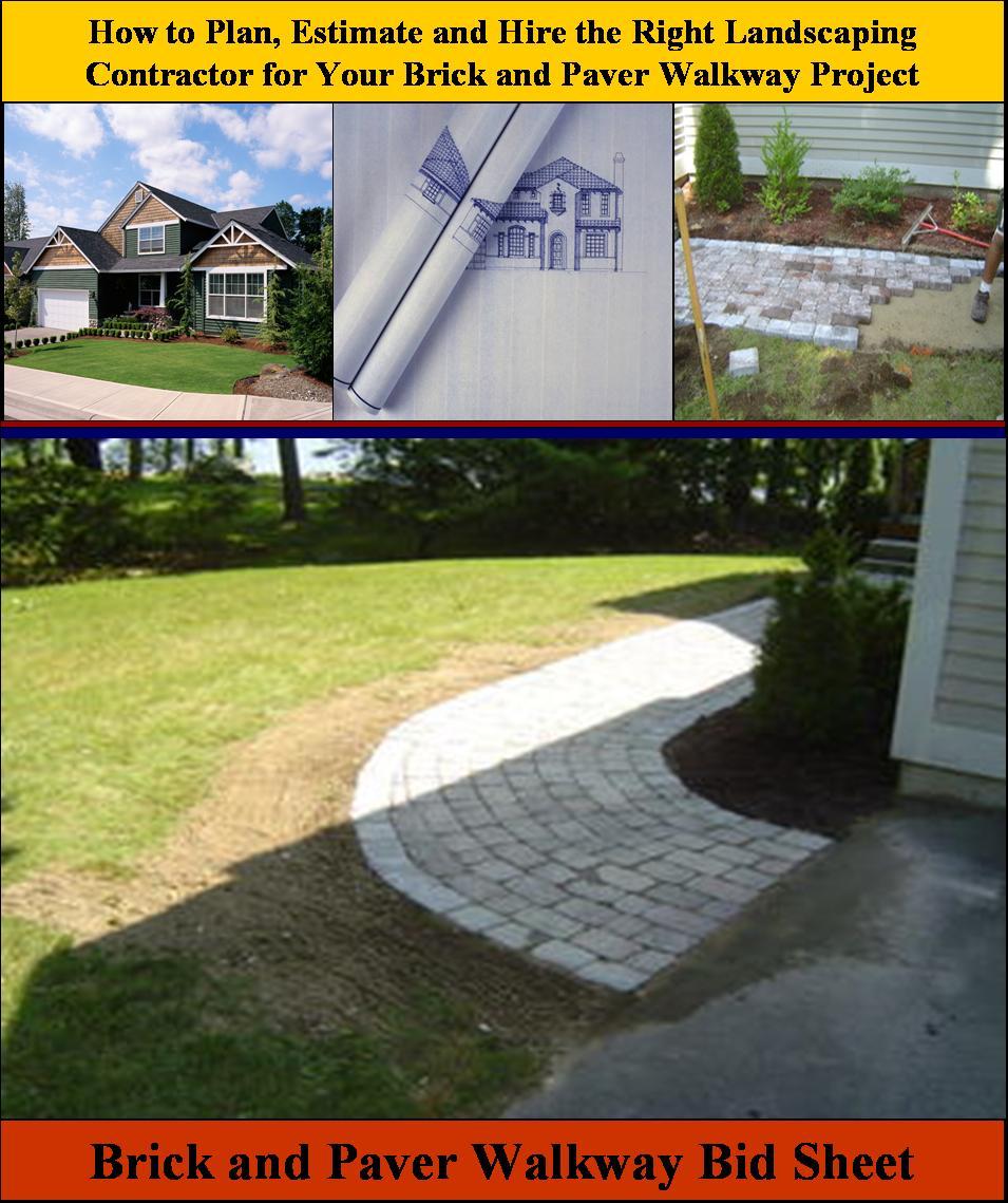 Brick and Paver Walkway Bid Sheet