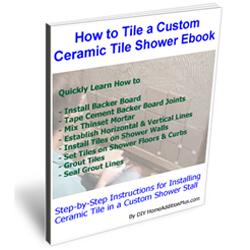 How to Tile a Custom Ceramic Tiled Shower Ebook